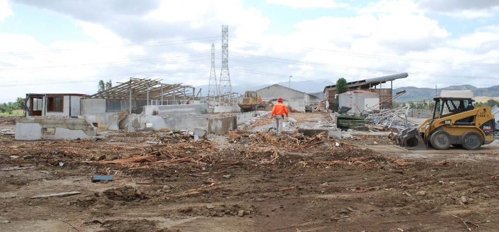 Site grading and compaction Demolition of existing structures Salvage Materials